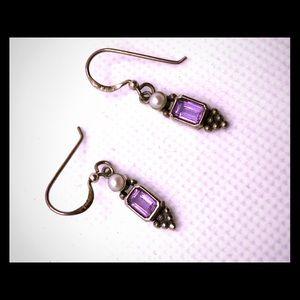 Lovely tiny amethyst earrings